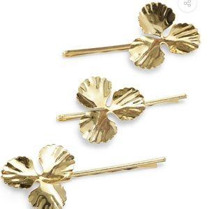 Lelet NY 14K Gold Plated Metal Poppy Pins (3)